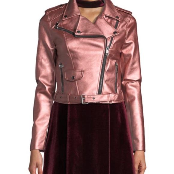 Romeo & Juliet Couture Jackets & Blazers - NWT Romeo & Juliet Matte Metallic Moto Jacket